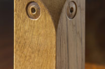 Hand crafted wooden owl