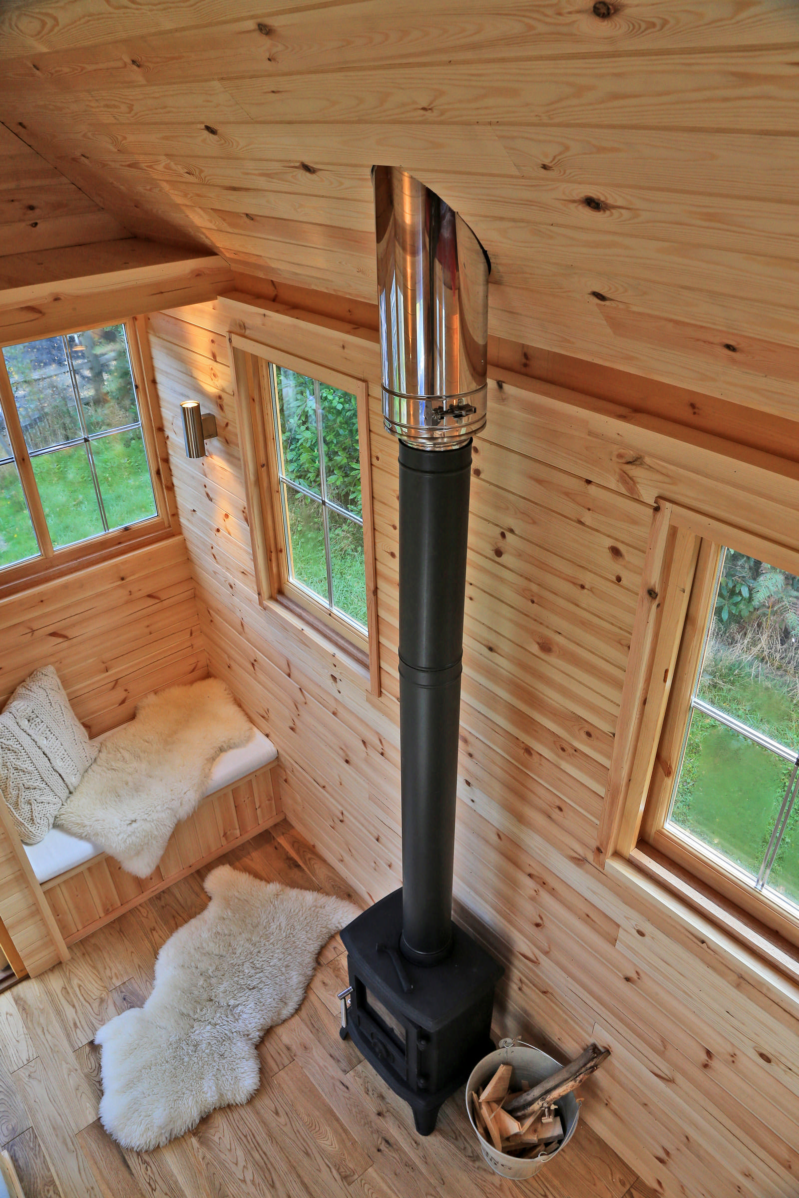 Estate Agency: Cabin stove from above